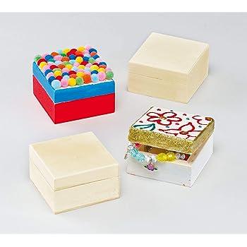 Baker Ross EK1325 Cajas de Manualidades Para Decorar (paquete de 4) para que los niños pinten, decoren y personalicen para actividades de manualidades, Multicolor: Amazon.es: Industria, empresas y ciencia