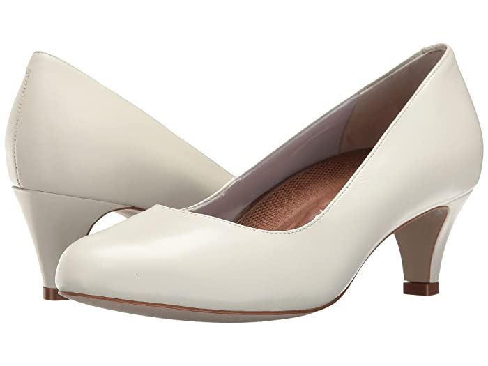 1950s Style Shoes | Heels, Flats, Saddle Shoes Walking Cradles Joy White Cashmere Womens Shoes $57.00 AT vintagedancer.com