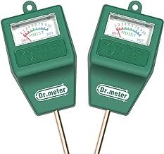 [2pack Soil Moisture Meter ] Dr.meter Hygrometer Moisture Sensor Meter for Garden, Farm,..