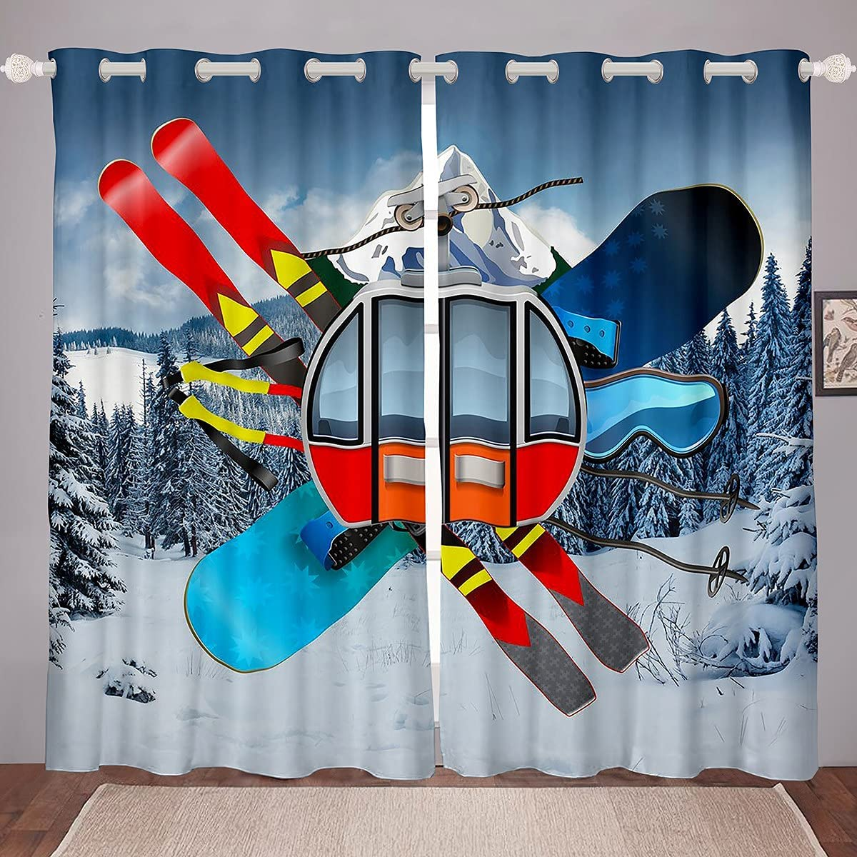 Erosebridal Skiing Curtains Extreme Window Sale Special Price Latest item Sports Games