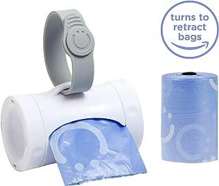 Ubbi Retractable On The Go Bag Dispenser, Lavender Scented, Baby Gift, White