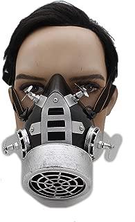 TFJ Men Women Face Muzzel Halloween Costume Gas Mask Nuke Steam Punk S&M Scary Black