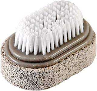 """HOME-X 2-in-1 Pumice Stone and Brush for Feet, Foot File, Dead Skin Callus Remover, Pedicure Tool, Bathroom Accessories-2 ¾"""" L x 1 ¾"""" W"""