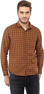 Mufti Rust Shirt with Twill Checks