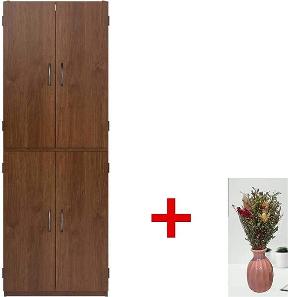 Mainstays Tall Storage Cabinet 4 Door With Vase Northfield Alder