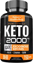 Keto 2000mg Diet Pills - Patented GoBHB Diet Supplement- Advanced Weight Loss, Improve Mental Focus, Extra Energy - Ketosis BHB 150 Capsules- Beta-Hydroxybutyrate and Exogenous Ketone -30 Days