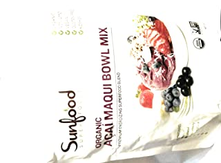 Sunfood Super Foods Acai Maqui Bowl Mix, Organic, 14oz (397g)