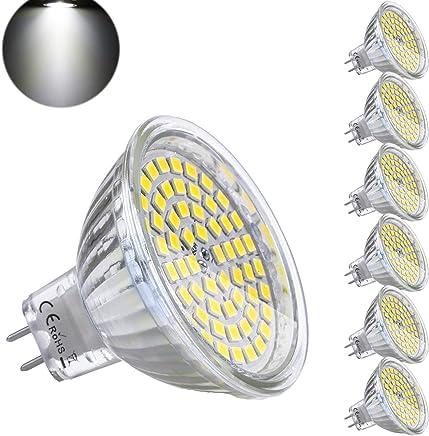 Bombilla LED GU5.3 MR16 12V 5W Blanco Frio Equivalente a Halogeno 35W Spot Luz