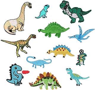 ÉCUSSON PATCH Dinosaure vert ** 6 x 6 cm ** Applique brodée thermocollante