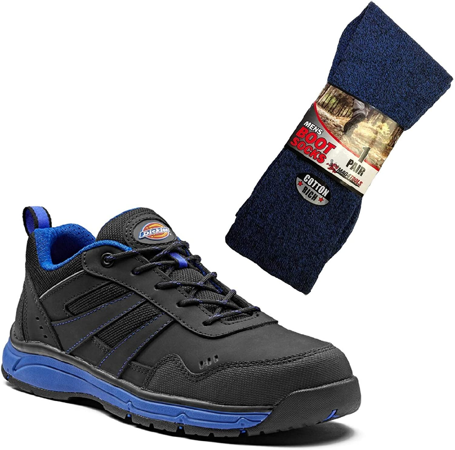 Dickies Emerson Safety Work Trainers and Boot Socks