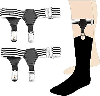 Calvertt Premium - 1 par de tirantes de calcetín doble resistente para calcetines de algodón y seda