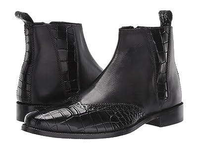 Stacy Adams Fazio Leather Sole Wing Tip Boot (Black) Men