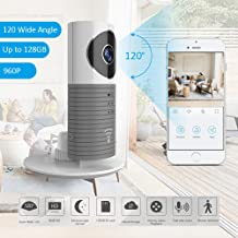TriVision Home Camera, HD WiFi Pet Cam with Two-Way...