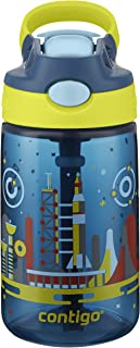 Contigo 康迪克 AUTOSPOUT Straw Gizmo Flip 儿童水壶 14盎司(约397ml)空间站图案