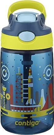 Contigo AUTOSPOUT Straw Gizmo Flip Kids Water Bottle, 14 oz, Nautical with Space Station