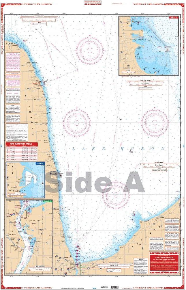 Waterproof Charts, Standard Navigation, 74 South Lake Huron & Saginaw Bay