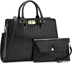 Dasein Women Fashion Handbags Tote Purses Shoulder Bags Top Handle Satchel Purse Set 2pcs