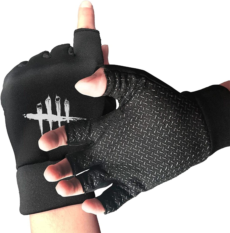 Dead-By-Daylight Knitted Mittens Gloves Stretchy Warmer Fingerless Non Slip Gloves For Unisex