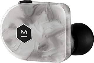Master & Dynamic MW07 Plus True Wireless Earphones - Noise Cancelling with Mic Bluetooth, Lightweight in-Ear Headphones - White Marble