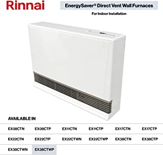 Rinnai EX38CT Direct Vent Wall Furnace, EX38CTWP-Propane/White