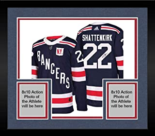 Framed Kevin Shattenkirk New York Rangers Signed 2018 NHL Winter Classic Jersey - Steiner Sports Certified
