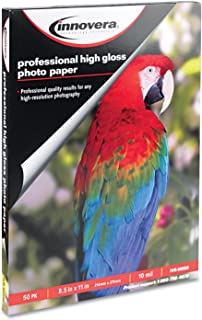 Innovera 99550 High-Gloss Photo Paper, 8-1/2 x 11, 50 Sheets/Pack (IVR99550)