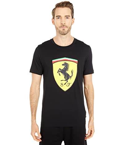 PUMA Ferrari Race Big Shield Tee+ (PUMA Black) Men