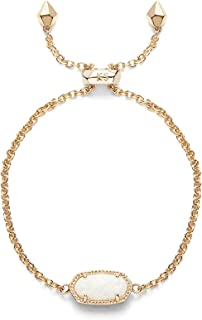 Kendra Scott Signature Elaina Bracelet in Gold Plated and White Kyocera Opal