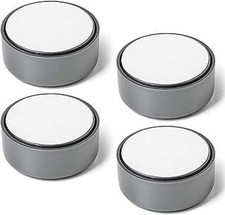 4 stuks SOTECH meubelvoet Golf, grijs, diameter: 53,5 mm, hoogte: 23,5 mm verstelbaar