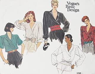Vogue 1246 Misses Blouse (Size 12-14-16) Vintage OOP Sewing Pattern