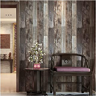 HaokHome 5003 Reclaimed Wood Plank Wallpaper Barnwood 20.8