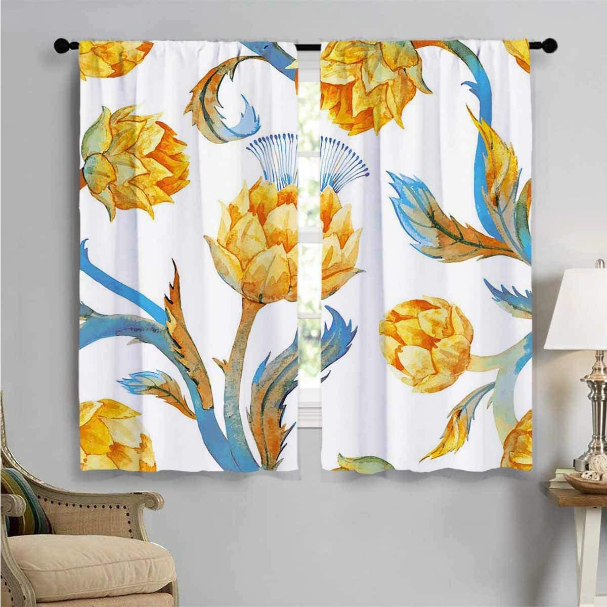 Blackout Draperies for Bedroom Watercolor quality assurance Living Indefinitely Ro Vegetables