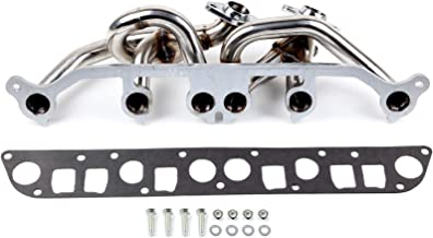 ECCPP Automotive Replacement Stainless Steel Exhaust Manifolds Gaskets and Bolts Fit for 2000-2006 Jeep Wranger TJ 4.0L l6 AMC 242 6-2