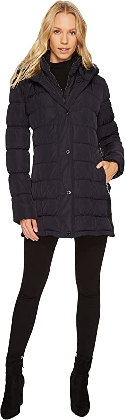 Calvin Klein - Hooded Puffer Mid-Length with Knit Side
