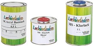 Lackierladen Autolack 2,0 Liter Set MS Klarlack Härter Wunschfarbe spritzfertig Peugeot/Citroen EEH Gris Haria 2 Effect