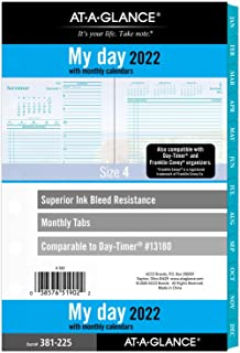 """$24 » 2022 Daily & Monthly Planner Refill by AT-A-GLANCE, 13180 Day-Timer, 5-1/2"""" x 8-1/2"""", Size 4, Two Page per Day, Seascapes..."""