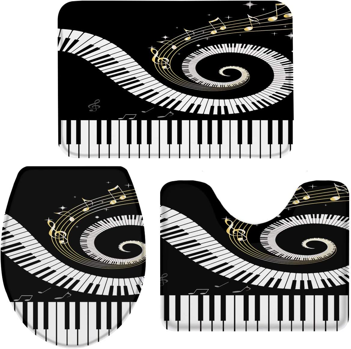 We OFFer at Free shipping anywhere in the nation cheap prices Large 3-Piece Bath Rug and Mat Musical Non-Slip Sets Bathr Note
