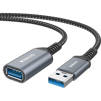 Nimaso USB 延長ケーブル USB3.0規格 2.0m (タイプAオス - タイプAメス) USB 延長 コード