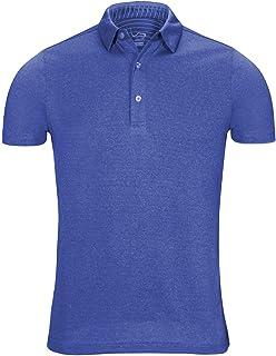 fb528e34 EAGEGOF Regular Fit Men's Performance Polo Shirt Stretch Tech Golf Shirt  Short Sleeve