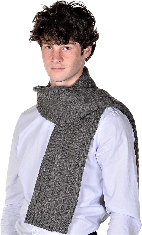 RWB Men's Cable Knit Cold Weather Long Scarf Smokey Grey