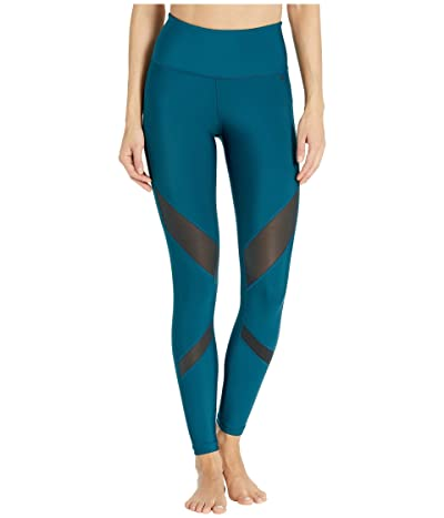 Hurley Quick Dry Mesh Surf Leggings (Midnight Turquoise) Women