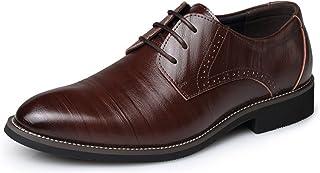 RAINSTAR Men's Retro Wing-Tip Brogue Shoes Classic Business Oxfords Shoe