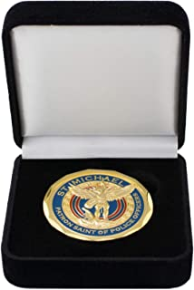 Saint Michael The Archangel Police Officer Challenge Gift Coin with Gift Box
