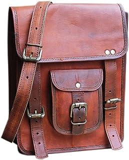 RK 11 x 9 inch Vintage genuine vintage leather ipad/tablet/tab/kindle satchel crossbody shoulder messenger bag