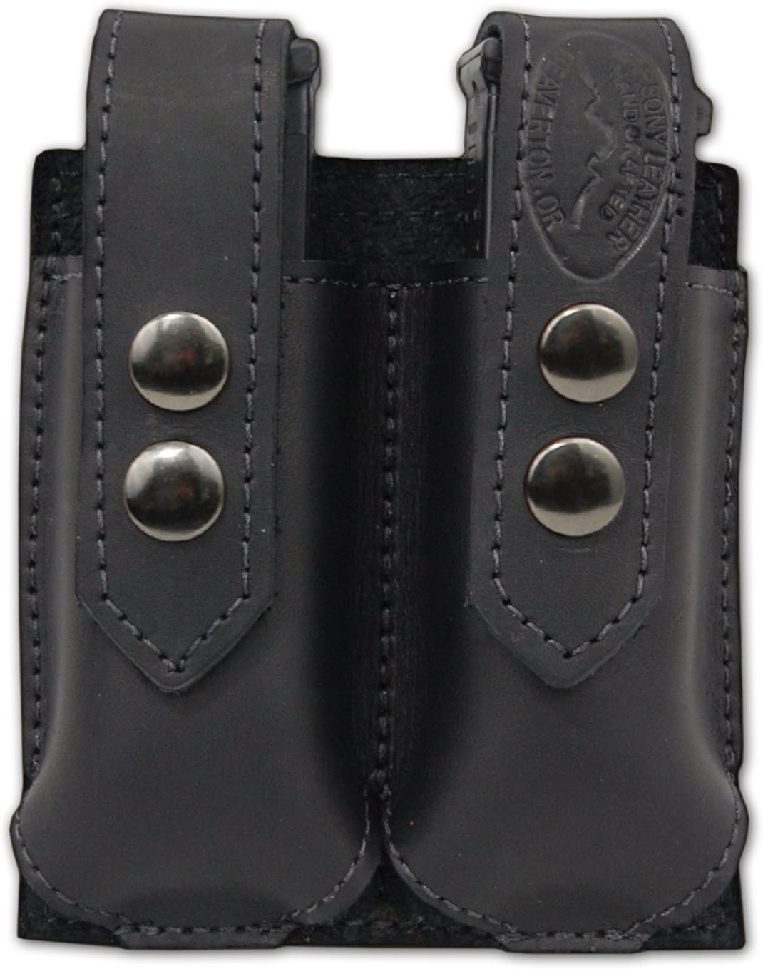 Barsony OFFer New Black Max 41% OFF Leather Double Ultra-C Magazine .380 for Pouch