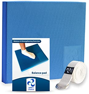 XL or L Foam Balance Pad - FREE Stretching Strap & BONUS eBook | Extra Large Balance Pads for Physical Therapy Rehab ...