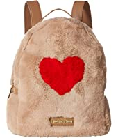 LOVE Moschino - Faux Fur Backpack w/ Heart Design