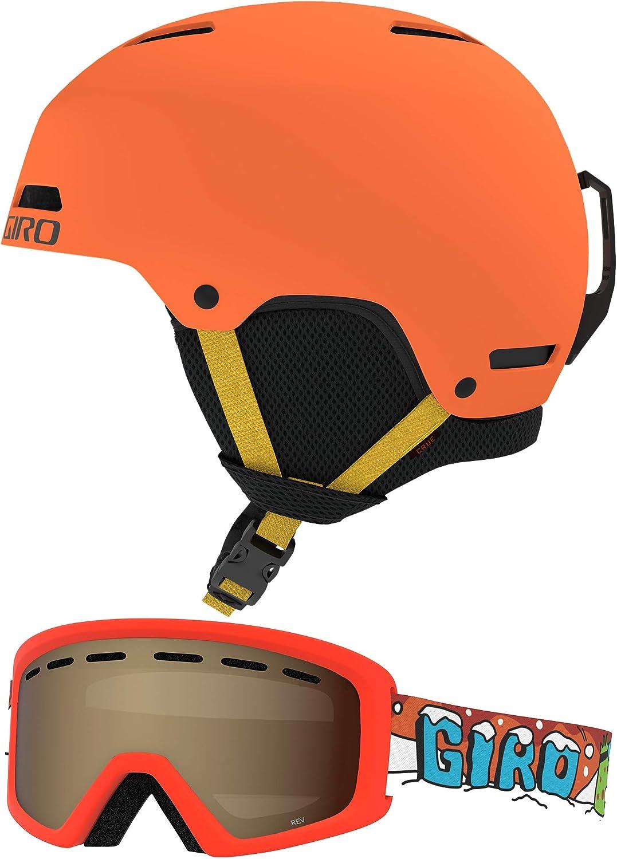 Giro unisex Crue Combo famous Pack Kids w Helmet Goggles Matching Snow
