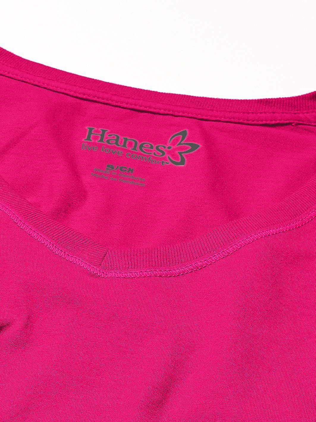 Hanes Womens V-Neck Long Sleeve Tee