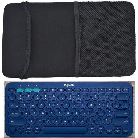 Orchidtent Funda protectora de neopreno de color negro para teclado Bluetooth Logitech K380 multidispositivo y teclado inalámbrico portátil Arteck ...